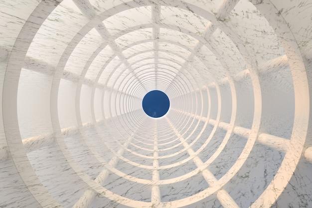 Inquadratura dal basso di un moderno edificio in marmo Foto Premium