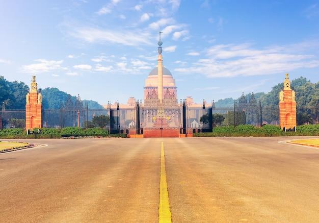 Parte inferiore del rashtrapati bhavan, la residenza ufficiale del presidente dell'india, new dehli. Foto Premium