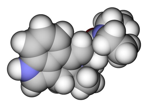 Modello molecolare che riempie lo spazio di lsd