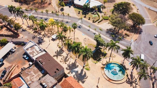 Luãs antã´niosã£o paulo brasil - 09 agosto 2021: immagine aerea della città di luis antonio