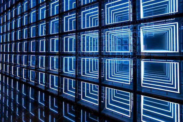 Parete di sfondo tecnologia luminosa