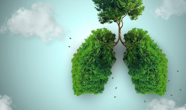 Albero a forma di polmone