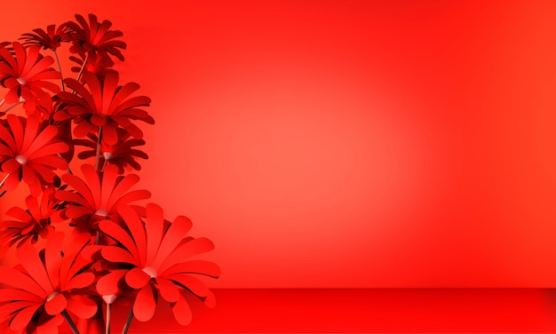 Lush lava color abstract background. rendering 3d