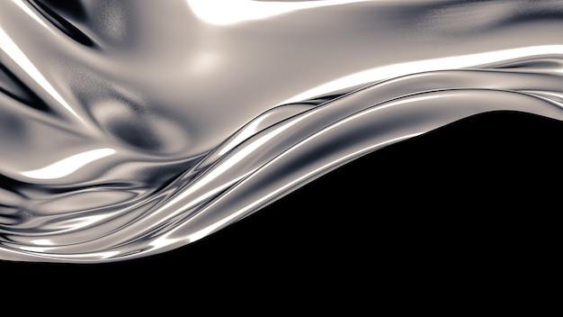 Lussuoso sfondo grigio con pieghe