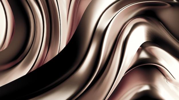 Sfondo di lusso con tessuto drappeggiato d'oro. illustrazione 3d, rendering 3d.