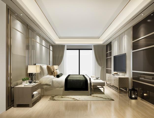 Suite moderna classica di lusso in hotel