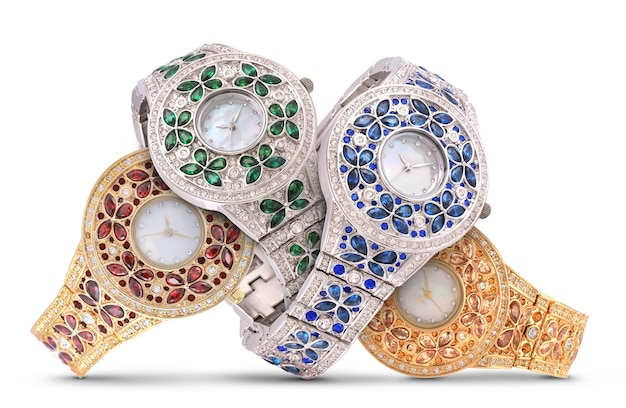 Orologi di lusso su bianco