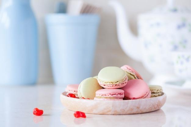 Macaron in tavola