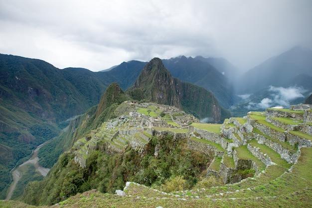 Machu picchu, vista aerea