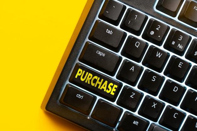 Un pulsante della tastiera macro con il testo