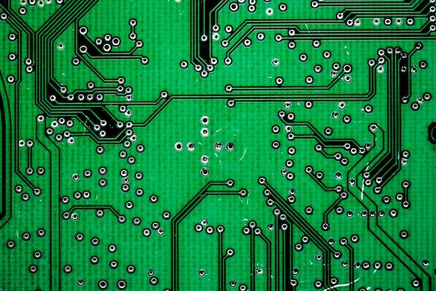 Macro colpo del circuito del computer