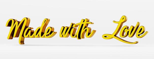 Fatto con amore una frase calligrafica