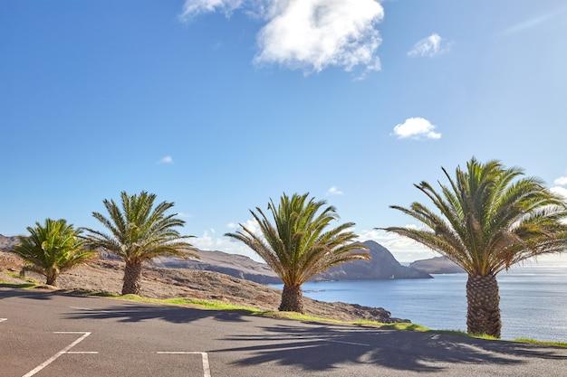 Madeira, portogallo, paesaggio con tempo perfetto