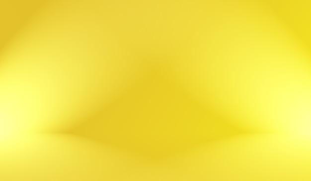 Colori morbidi astratti magici di sfondo giallo brillante per studio sfumato.