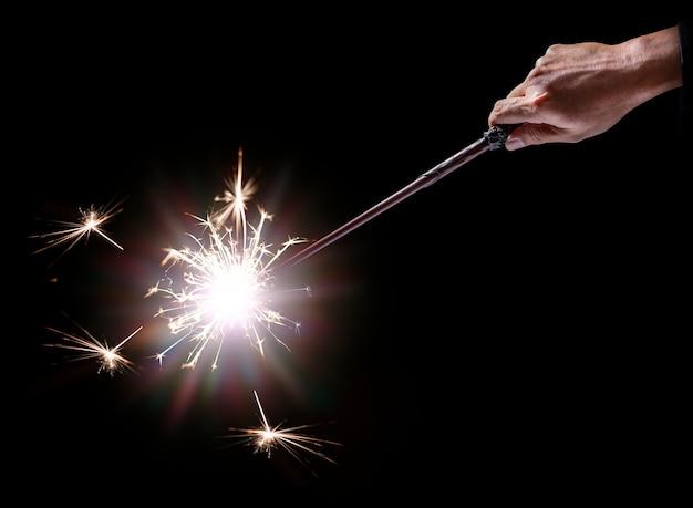Bastone bacchetta magica con luce scintillante.