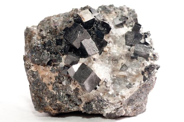 Campione di minerale di magnetite