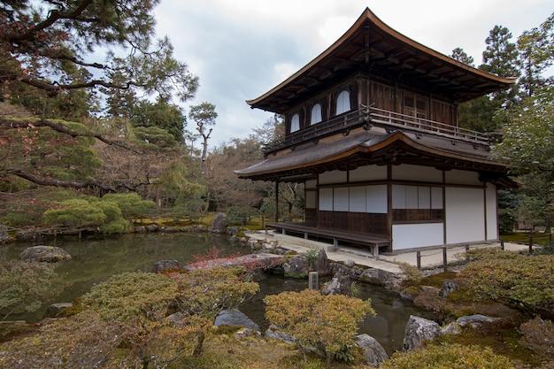 Edificio principale del tempio del padiglione d'argento, ginkakuji