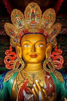 Buddha maitreya in thiksey gompa