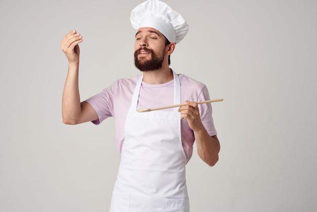 Grembiuli da chef maschili ristorante gourmet cucina professionale