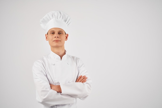 Professionista del servizio di lavoro di cucina chef maschio