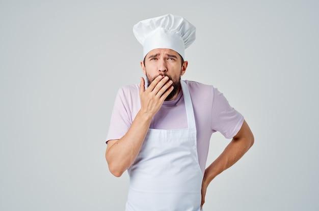Chef maschio cucina professionale cucina gourmet