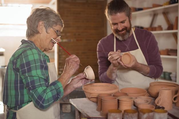 Vasi per pittura maschile e femminile