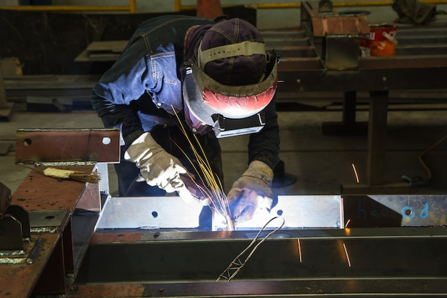 Struttura del ponte della costruzione del fascio d'acciaio della saldatura maschio