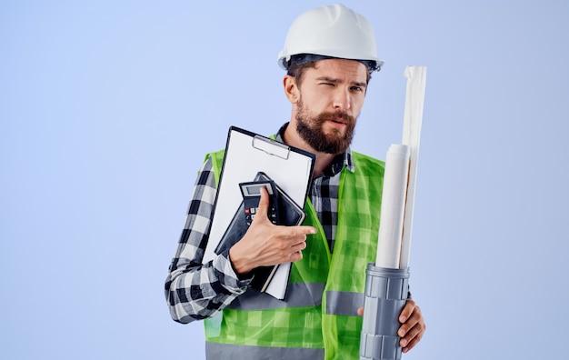 Industria dello studio di professione di progettazione dei lavori di costruzione del lavoratore maschio