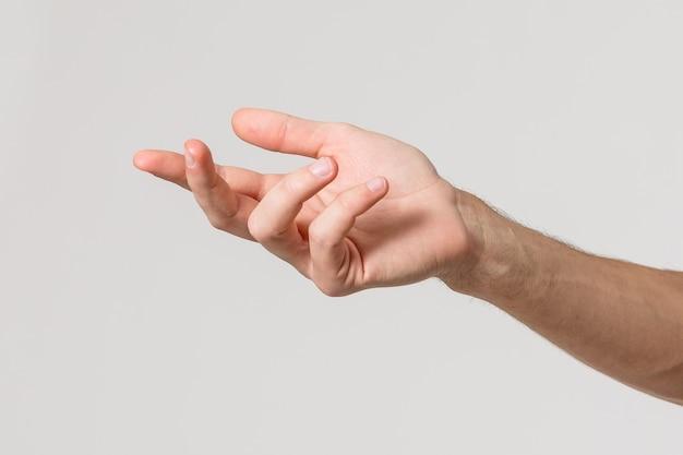 Simbolo della mano dell'uomo con sfondo bianco isolato
