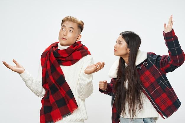 Uomo e donna di comunicazione stile di vita cool moda aspetto asiatico