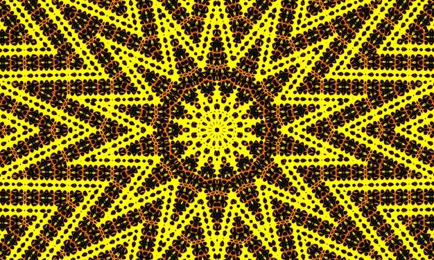 Il concetto di design dell'ornamento di mandala, il motivo della linea di stelle, sembra una ragnatela, la trama senza soluzione di continuità, può essere utilizzato per loghi, sfondi, modelli, caleidoscopi e sfondi.