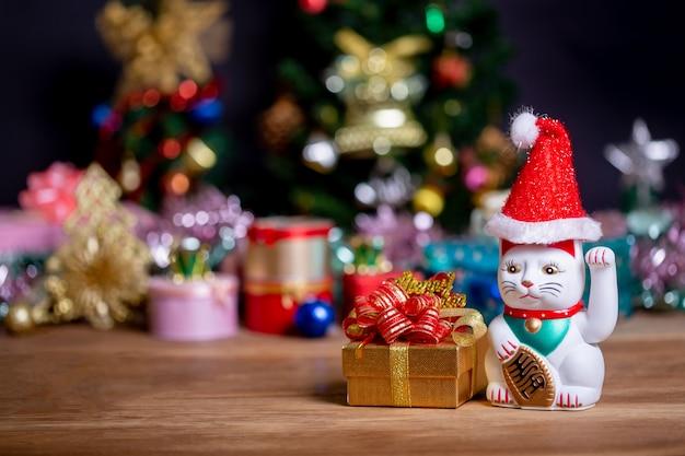 Maneki neko (good luck cat) merry xmas