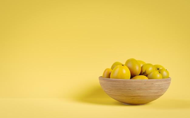 Mango colorato in uno spazio di copia cestino. grafica 3d