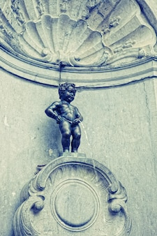 Statua del manneken pis a bruxelles