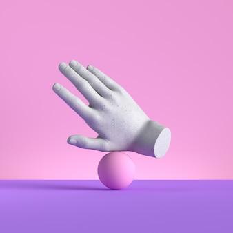 Manichino a mano con equilibrio sferico