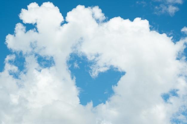 Molte piccole nuvole nel cielo blu. nuvoloso estivo. nuvole bianche che galleggiano nel cielo.