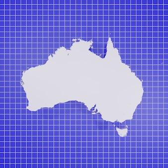 Mappa dell'australia rendering