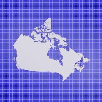 Mappa del canada rendering