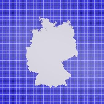 Mappa della germania rendering