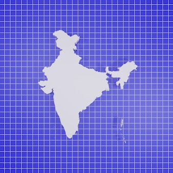 Mappa dell'india rendering