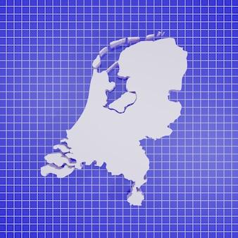 Mappa dei paesi bassi rendering