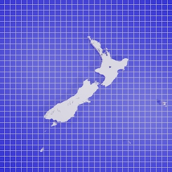 Mappa della nuova zelanda rendering