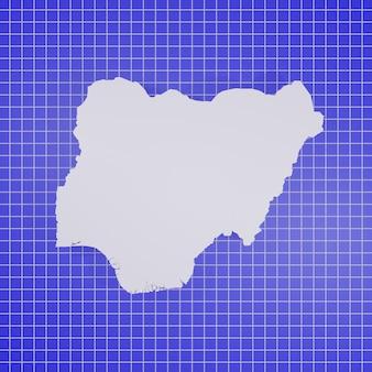 Mappa della nigeria rendering