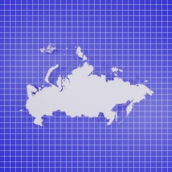 Mappa della russia rendering