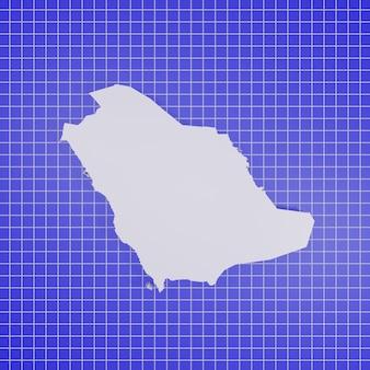 Mappa dell'arabia saudita rendering