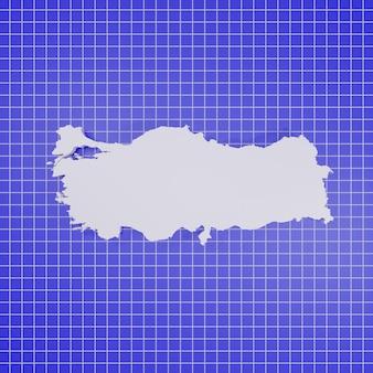 Mappa della turchia rendering