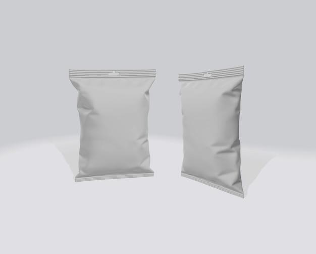 Maquette de paquet de puces