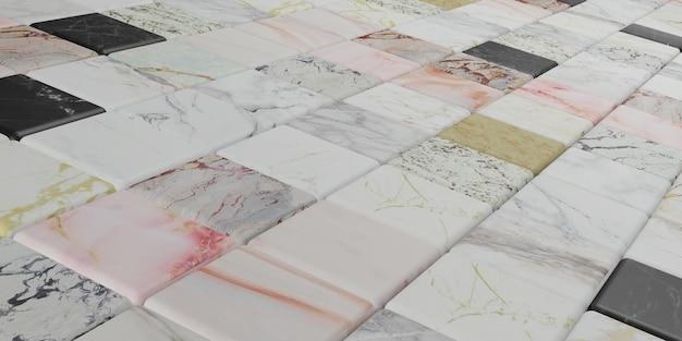 Blocco di marmo illustrazione 3d della parete di struttura di marmo variopinta