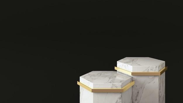Piedistallo in marmo per la presentazione del prodotto, moderno design minimale