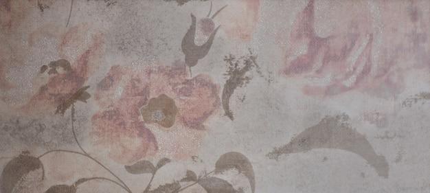 Piastrella in marmo con motivo floreale per la cucina